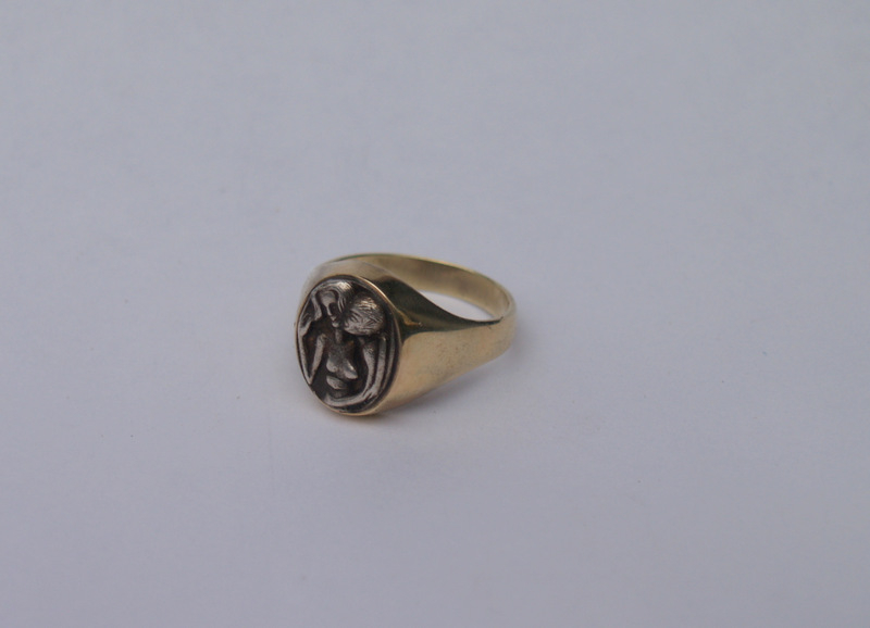 Ring; Gold, Silber