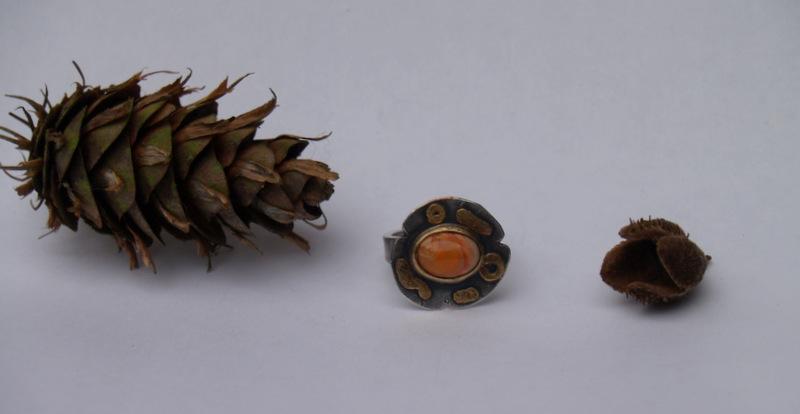 Ring; Silber, Edelstein