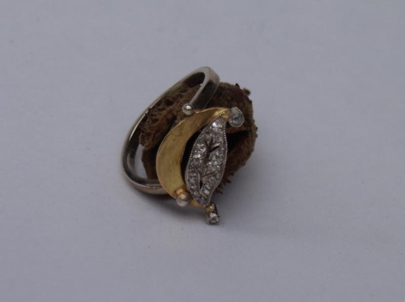 Ring, Gold, Billanten.