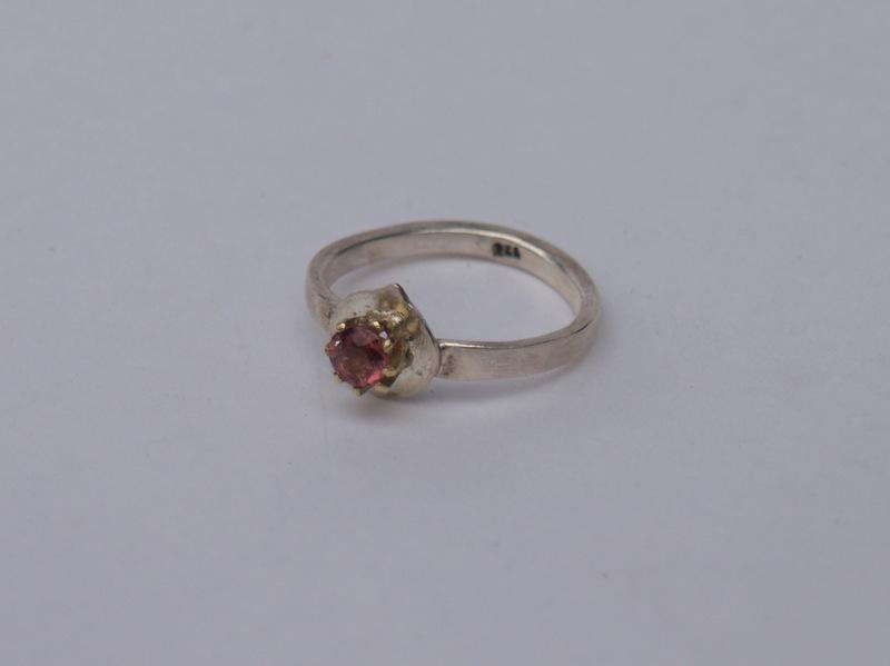 Ring, Gold, Silber, Edelstein