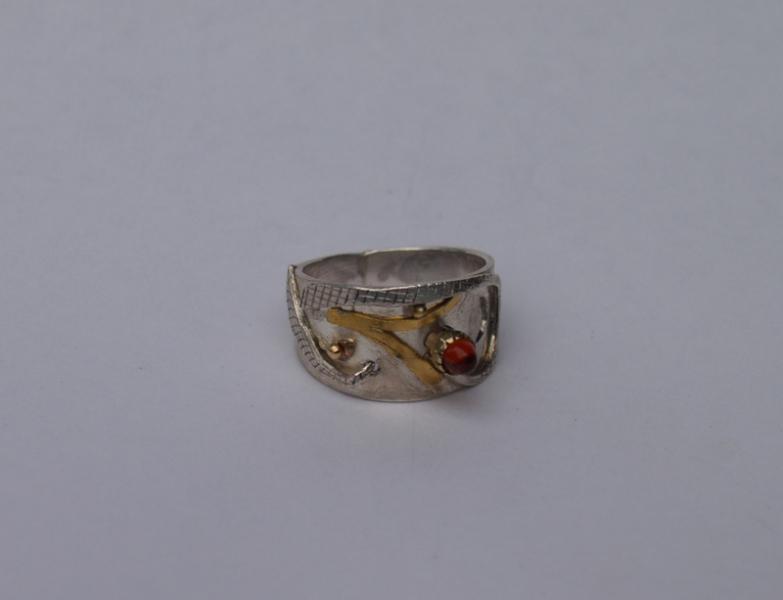 Ring, Gold, Silber, Edelstein.