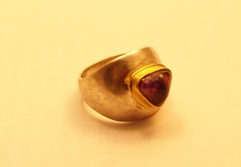 Ring | Silber, Gold, Amethyst