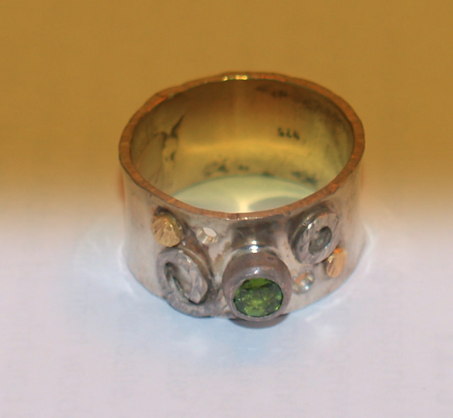 # Ring - Silber, Gold, Turmalin